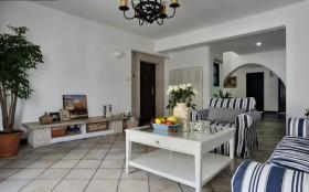 地中海风格客厅电视墙装修效果图