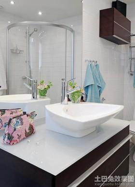 现代卫生间整体洗手盆图片