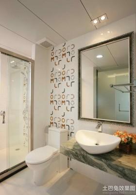 现代简约卫生间整体洗手盆图片