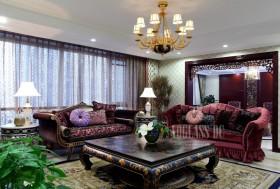 混搭风格客厅沙发茶几图片欣赏