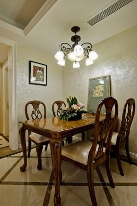 美式餐厅实木餐桌椅图片