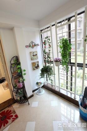 家庭阳台盆栽装饰效果图片