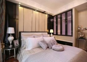 现代7平米小卧室床头软包装修效果图