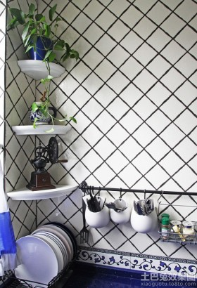 家庭厨房瓷砖颜色搭配效果图