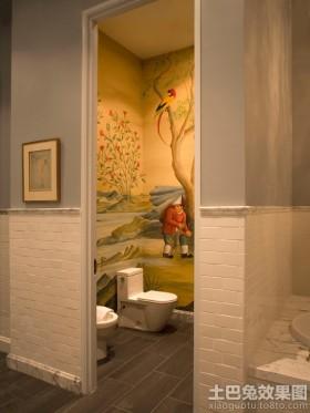 家庭小卫生间壁画图片