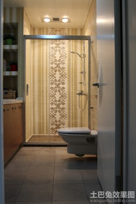 卫生间淋浴房马赛克拼花效果图-卫生间装修效果图大全2017图片 卫生