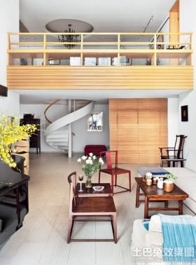 混搭风格别墅挑高客厅效果图
