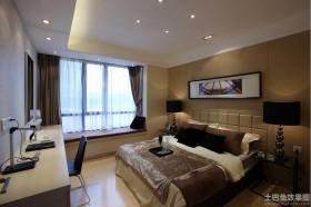 现代卧室飘窗设计装修效果图