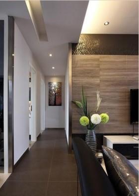 现代80平米两室两厅过道装修效果图