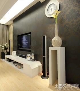 现代风格壁纸电视墙效果图