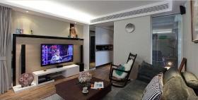 现代70平米两室一厅客厅电视背景墙效果图