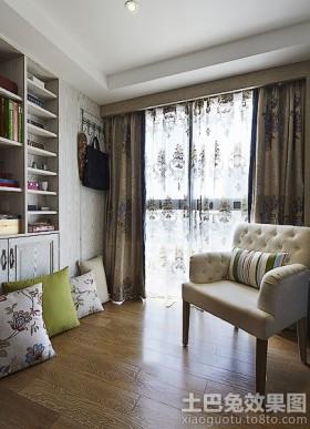 背景墙窗帘室内阳台窗帘沙发搭配效果图