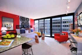 现代风格单身公寓装修设计图片