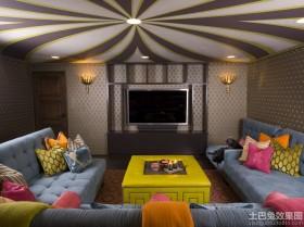 现代风格家庭影院设计效果图片
