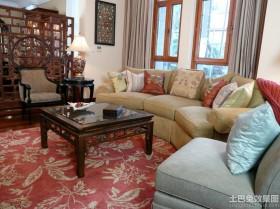中式风格客厅红木茶几图片
