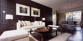 现代中式100平米房屋客厅装修效果图