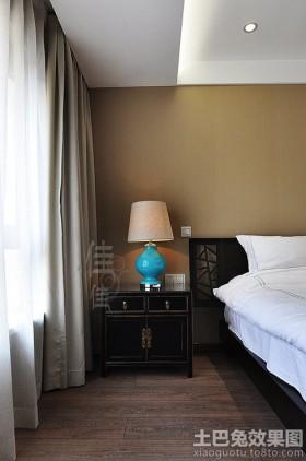 中式卧室床头柜图片