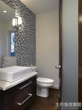 卫生间玻璃马赛克背景墙效果图