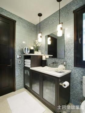 卫生间玻璃马赛克背景墙装修效果图