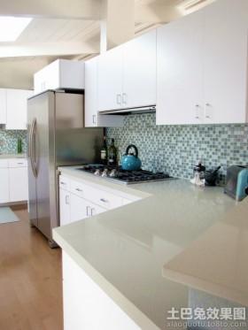 家庭厨房玻璃马赛克背景墙效果图