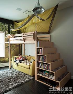 创意儿童房收纳楼梯装修效果图