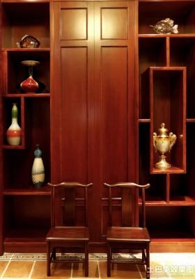 中式风格红木博古架设计效果图片