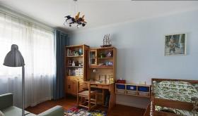 儿童房书桌书柜效果图