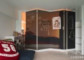 卧室创意屏风隔断装修效果图