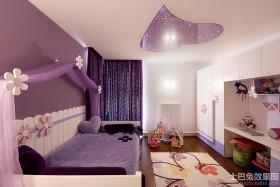紫色儿童房间布置效果图片
