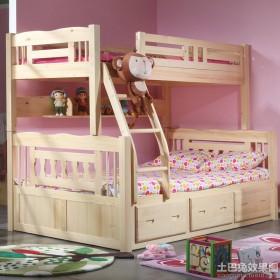 家庭双人儿童房上下铺装修效果图