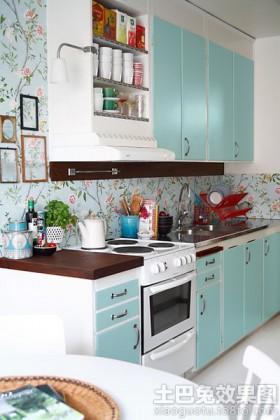 宜家风格装修一字型厨房效果图