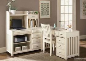 书房白色欧式家具图片