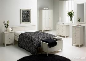 卧室白色家具装修效果图