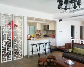 现代中式小户型厨房吧台装修效果图