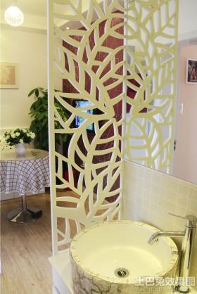洗手间隔断效果图