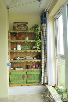 家装阳台室内花架效果图