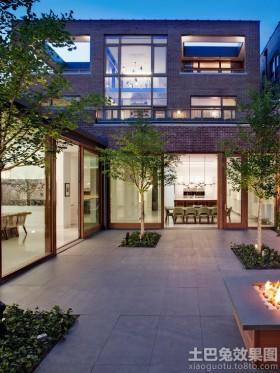 现代风格别墅庭院设计效果图