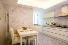 开放式厨房餐厅装修效果图大全2013