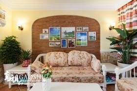 田园风格小户型客厅照片背景墙效果图