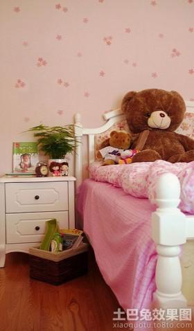 韩式田园风格装修室内床头柜效果图
