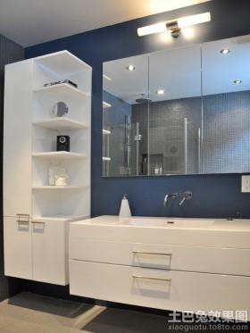 简约卫生间浴柜图片