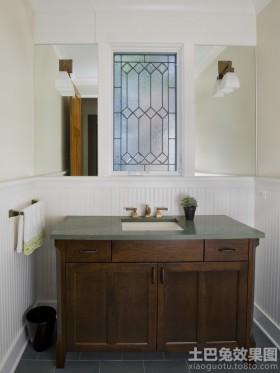 中式实木浴柜图片