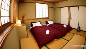 日式装修卧室房间效果图