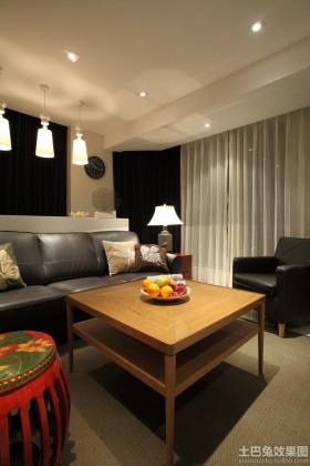 中式小户型客厅装修效果图片
