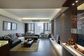 现代风格100平米房屋客厅装修效果图