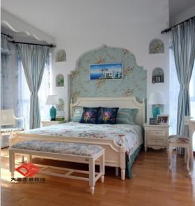 地中海风格卧室背景墙地中海风格卧室装修效果图大全