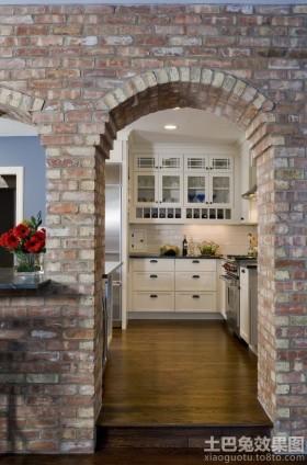 厨房文化砖拱门造型效果图