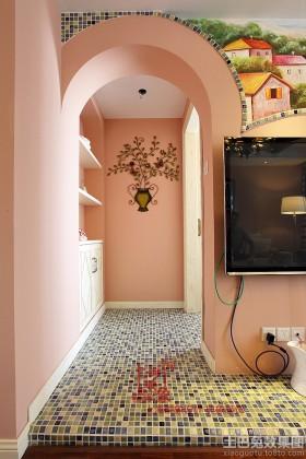 田园风格两居室客厅垭口装修效果图