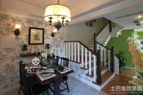 别墅楼梯餐厅装饰效果图