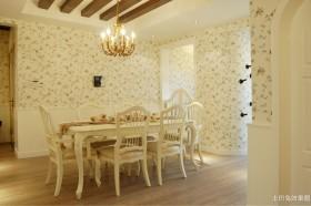餐厅碎花壁纸效果图片欣赏